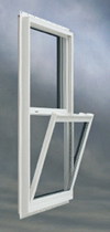 Window White Vinyl Single Hung Tilt Open W(30in.) X H(36in.)