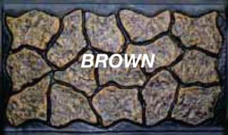 Mason&#39s Rock panel 36 in.  X  5 ft. Sedona brown skirting panels
