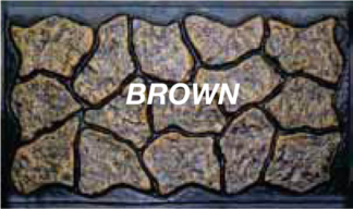 Mason&#39s Rock panel 48 in.  X  5 ft. brown skirting panels