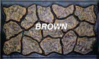 Mason&#39s Rock panel 48 in.  X  5 ft. brown skirting panels