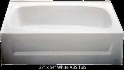 Bathtub 27 x 54 White ABS Tub Right Hand Drain