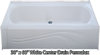 "Bathtub 30"" x 60"" White Permalux Center Drain Tub"