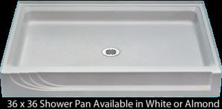 "Better Bath White Shower Pan 36"" x 36"""
