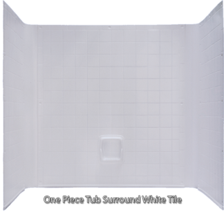 Better Bath Tub 1 Piece Surround Tile Finish White 27u2033 X 54u2033