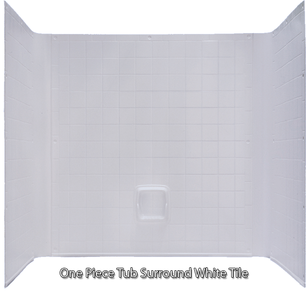Better Bath Tub 1 piece Surround Tile Finish White 27 x 54