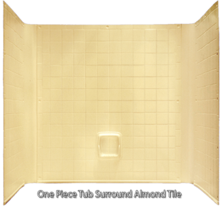 "Better Bath Almond 1 piece Surround Tile Finish 27"" x 54"" Tub"