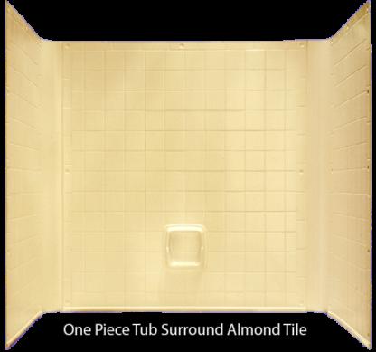 "Better Bath Almond 1 piece Surround Tile Finish 27"" x 54"" Tub"