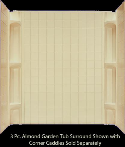3 Piece Surround Almond  for 40x54 & 40x60 Garden Tubs