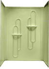 """Better Bath 3 PC. Almond ABS Surround  for 28""""x 54"""" Shower Pan"""