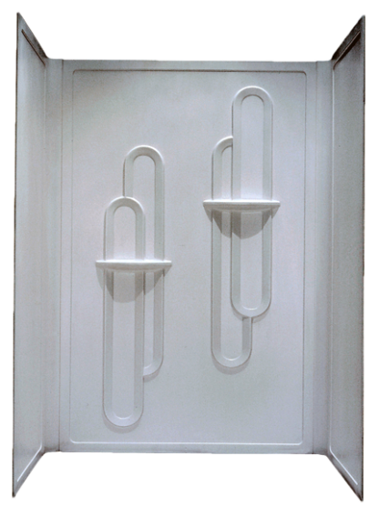 Better Bath 3 Pc. Surround ABS White for 28x54 Shower Pan