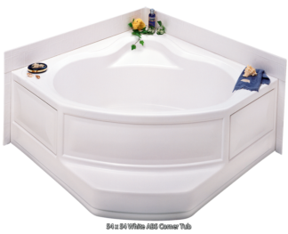 "Better Bath White ABS Corner Tub Right Hand Drain 54"" x 54"""