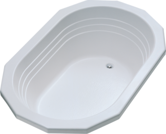Better Bath White Ophelia Oval Drop-in Island Tub Permalux 42x64