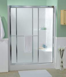 "Shower Door for 28"" x 54"" Shower Pan - Bypass"