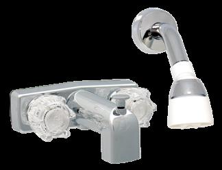 Bath Tub & Shower faucet - chrome 4 inches  4812
