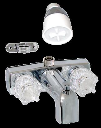 """Bath tub & shower faucet - spout - exposed - 3-3/8"""" - Chrome"""
