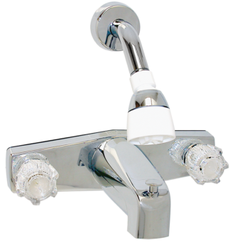 2 Valve Bath Tub Faucet U0026 Shower Diverter   8 Inch   Chrome