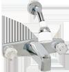 2 Valve bath tub faucet & shower diverter - 8 inch - chrome