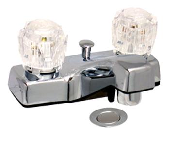 Bathroom faucet  - lavatory faucet accepts pop-up Chrome 4 inch