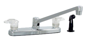 Kitchen faucet with sprayer Catalina Series 8 inch