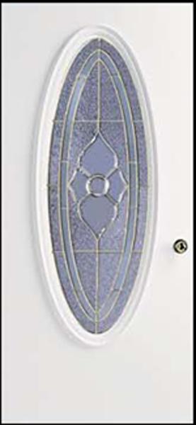 38in. x 80in. L Hinge 6 panel Steel Door 6in. Jamb Dynasty glass