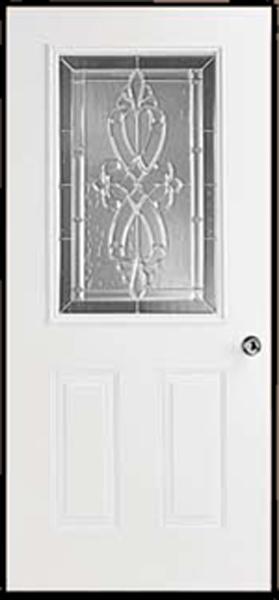 34in.X80in. R Hinge 6 panel Steel Door 6in. Jamb Rectangle glass