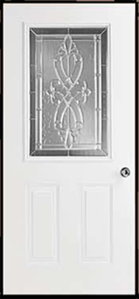38in.X76in. R Hinge 6 panel Steel Door 6in. Jamb Rectangle glass