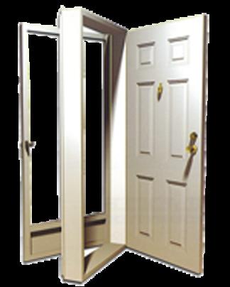 32in. x 76in. Left  Hinge 6-Panel Steel Door 4in. Jamb