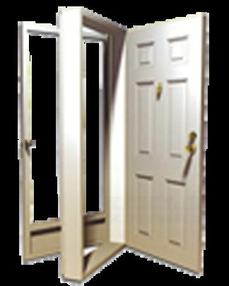 32in. x 76in. Left  Hinge 6-Panel Steel Door 6in. Jamb