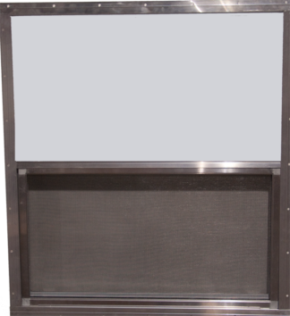 30.25in. x 27in. Single Pane Aluminum  Slider Window & Screen