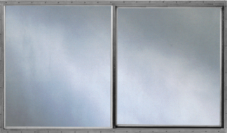 46.25in. x 27in. Single Pane Aluminum Slider Window & Screen