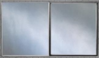 46.25in. x 40in. Single Pane Aluminum Slider Window & Screen