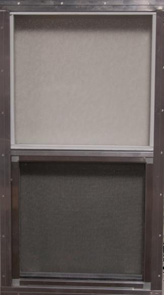 14.25in. x 27in. Single Pane  Window & Screen Obscure Glass