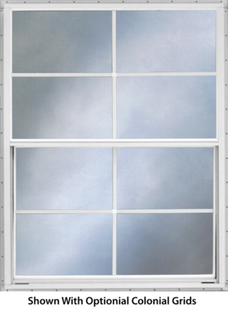 30.25in. x 27in. Self Storing Storm Window White Slider