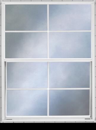 30.25in. x 39.625in. Self Storing Storm Window White Slider