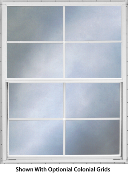 40in. x  27in. Self Storing Storm Window White Slider