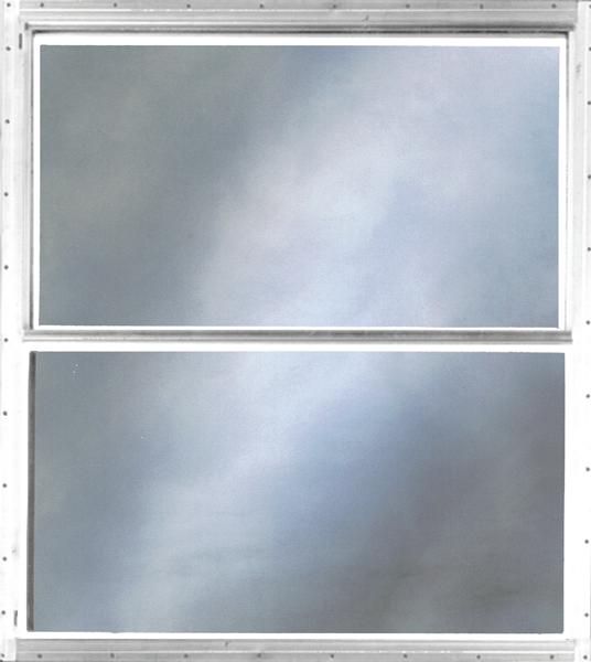 Vertical Sliding White Aluminum Storm Window Upper Lower