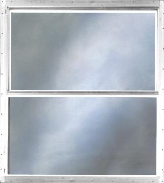40in. x  21in. Self Storing Storm White Sliding Window