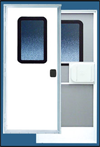 38 X 74 Series 5050 Square Corner RV Door