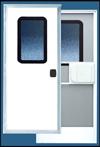 38 X 78 Series 5050 Square Corner RV Door