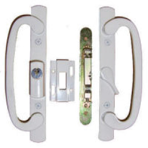 Patio Door Lock Philips White Finish