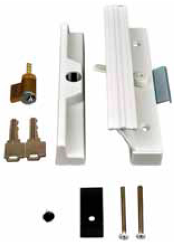 Kinro Aluminum Patio Door Lock Set Wthie Finish