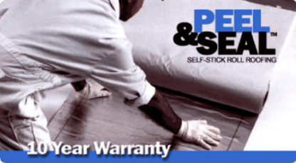 "Peel & Seal 6"" White Aluminum Roll Roofing"
