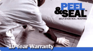 "Peel & Seal 18"" White Aluminum Roll Roofing"