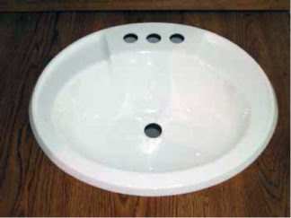 "Oval Plastic Bath Sink White  17"" x 20"""