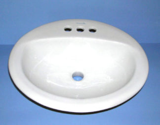 Oval White Porcelain Sink 17 x 20