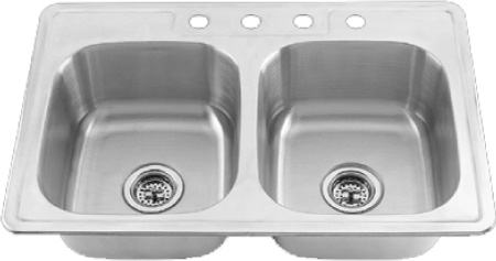 Stainless Steel Kitchen Sink 33 x 19 x 6\