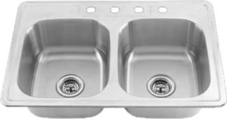 Stainless Steel Kitchen Sink 33 x 19 x 8""