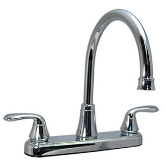 Two Handle Hybrid Hi-Arc Kitchen Faucet Chrome No Spray