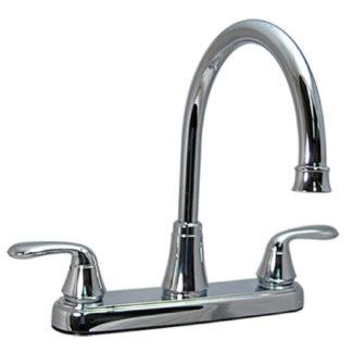 Two Handle Hybrid Hi-Arc Kitchen Faucet Chrome No Spray