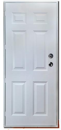 34 x 76 R/H 6-Pnl. Steel Outswing Door